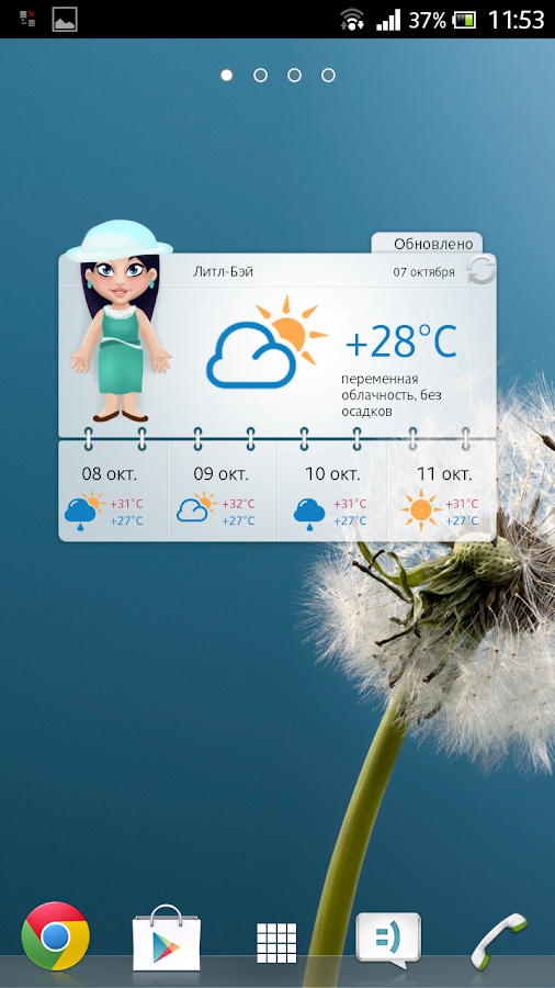 Meteoprog. Dressed by weather- screenshot