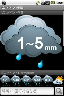 Pinpoint Rainfall screenshot for Android
