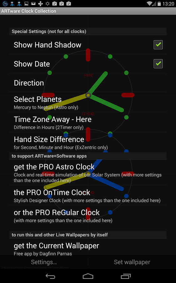 ARTware Clock Collection LWP - screenshot