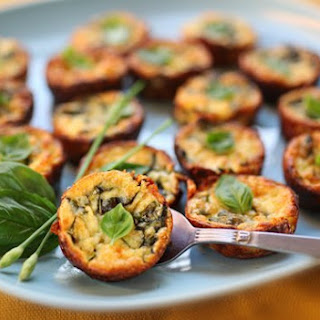 Crustless Zucchini and Basil Mini-Quiches.