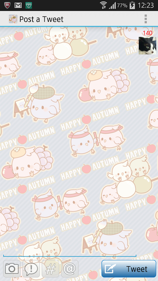 Tweecha Theme:Happy Autumn- screenshot