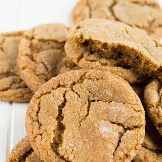 Chewy Ginger Snap Cookies.