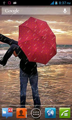 【免費生活App】浪漫的雨動態壁紙-APP點子