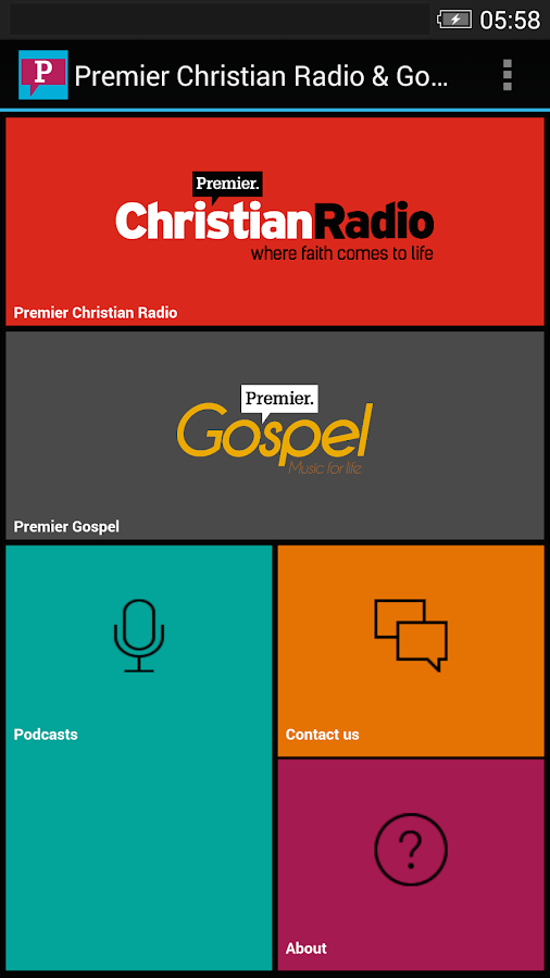 Premier Christian Radio/Gospel- screenshot