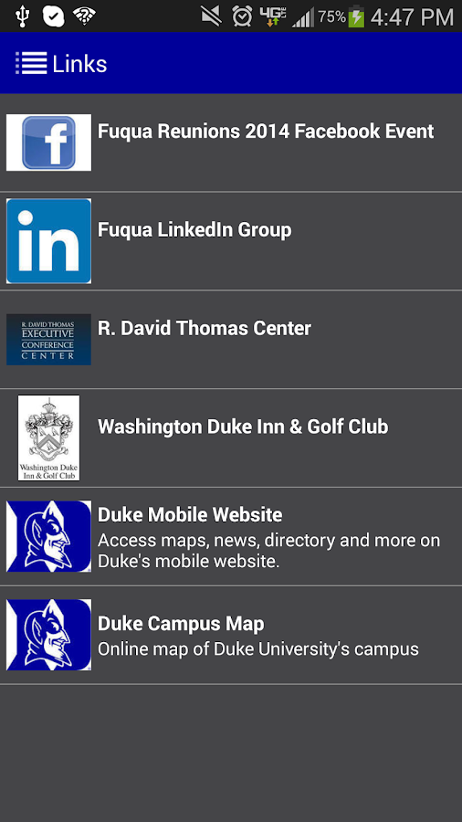 Fuqua Reunions 2014 - screenshot