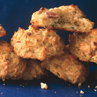 Cheddar, Bacon, and Fresh Chive Biscuits.