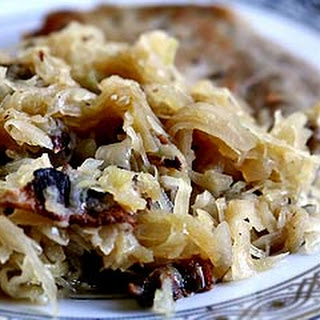 Sauerkraut with Bacon and Apples.