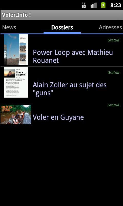 Voler.Info Magazine- screenshot