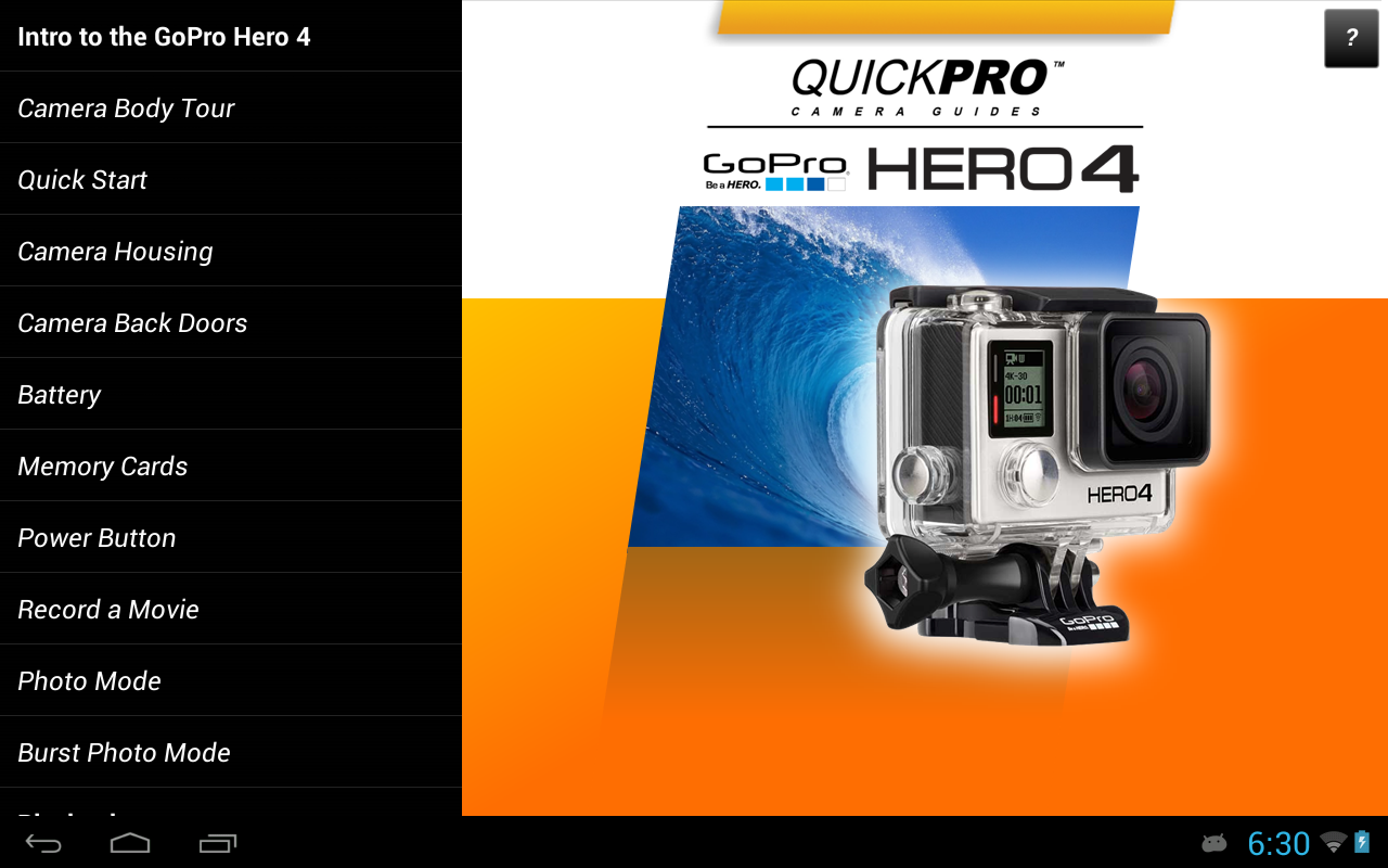 gopro hero 4 guide android apps on google play. Black Bedroom Furniture Sets. Home Design Ideas