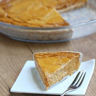 Healthy Pumpkin Pie.