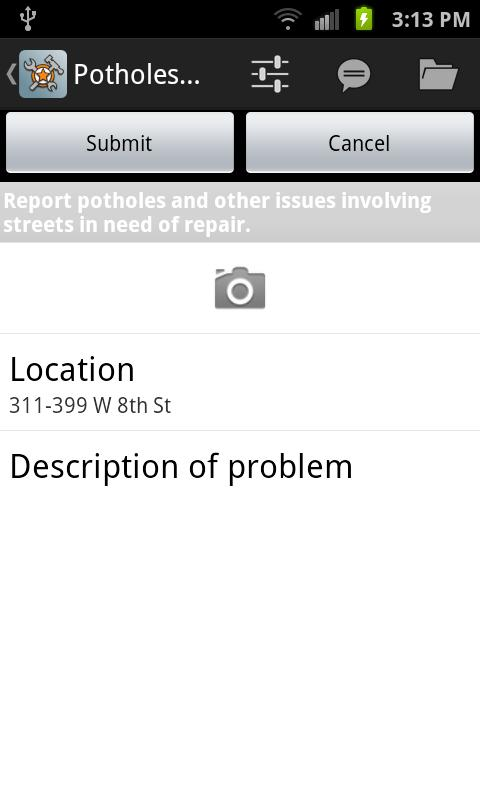 GeoReporter- screenshot