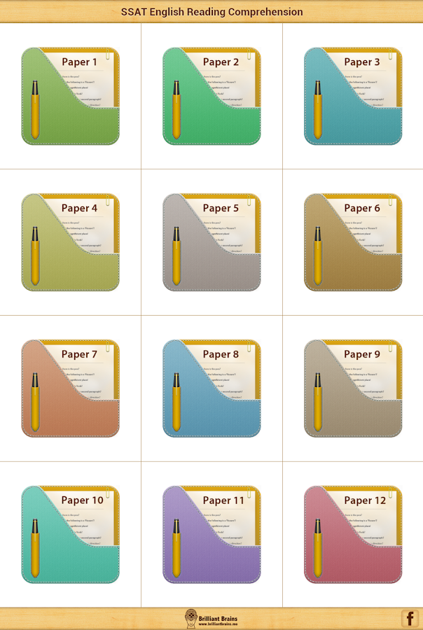 SSAT English Comprehension LE- screenshot