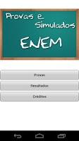 Screenshot of Provas e Simulados ENEM