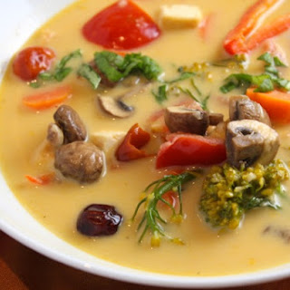 Vegetarian Tom Kha Soup