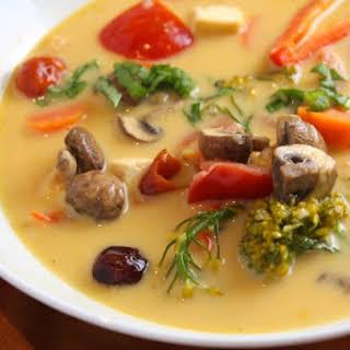 Vegetarian Tom Kha Soup.