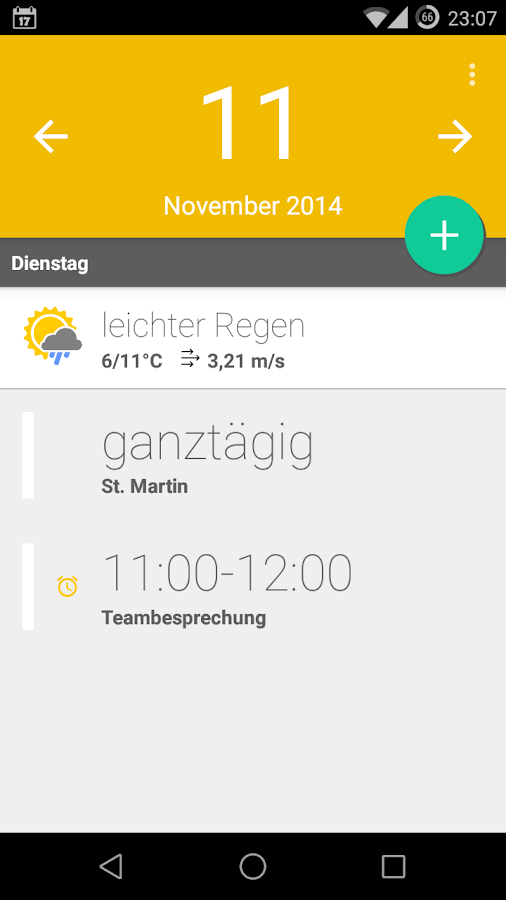 Calendar Widget+Status PRO- screenshot