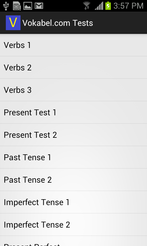 Vokabel.com Tests- screenshot
