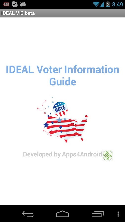 IDEAL Voter Information Guide - screenshot