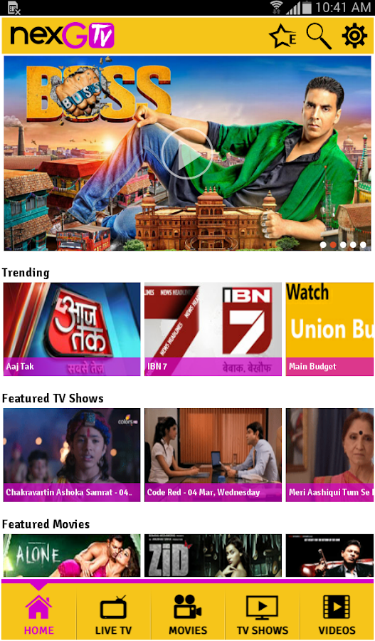 nexGTv – Mobile TV, LIVE TV - screenshot