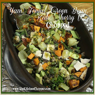 Yam, Fennel, Green bean, Kale, Sherry V Chopped