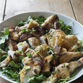 Roast Chicken with Bread & Arugula Salad