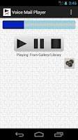 Screenshot of Voice Mail Player (earpiece)