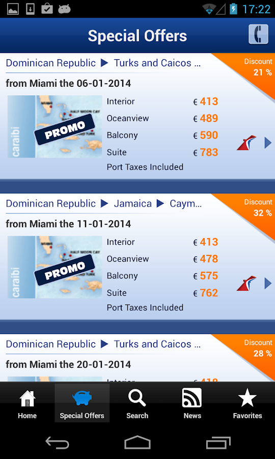 Ticketcarnival - Cruises- screenshot