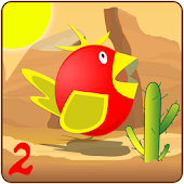Fly Bird flap wings (desert)