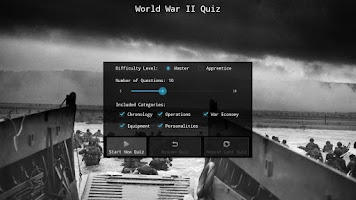 Screenshot of WWII Quiz
