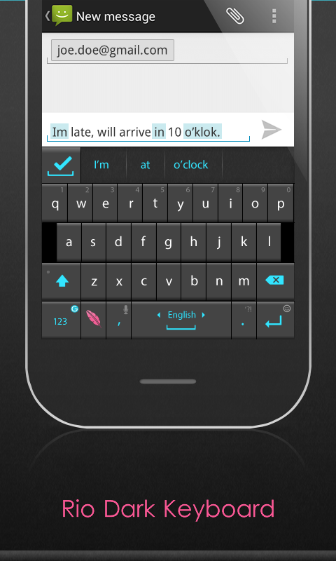 Ginger Keyboard - Perfect Text - screenshot