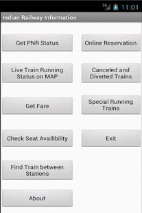 Indian Railway Information - screenshot thumbnail