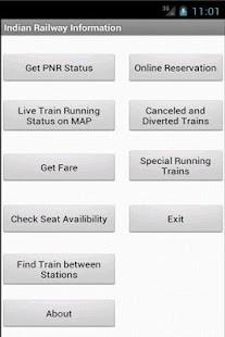 Indian Railway Information - screenshot thumbnail