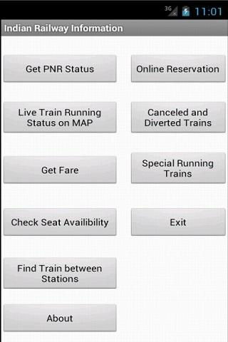 Indian Railway Information - screenshot