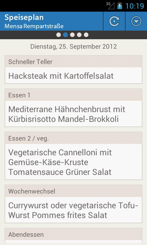 Mensa Freiburg - screenshot
