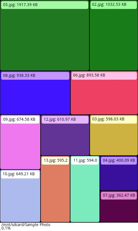 Grid Size File Manager- screenshot