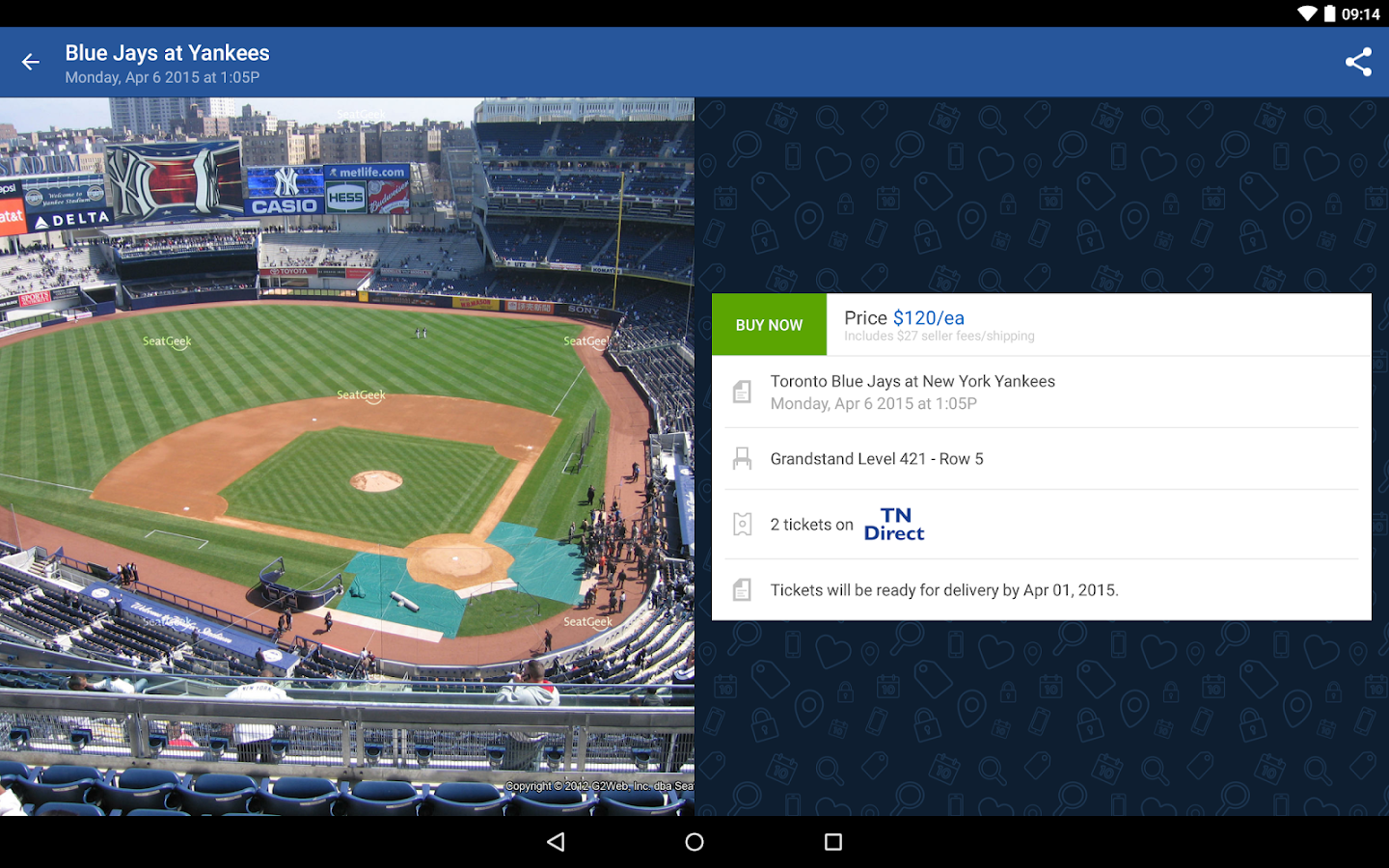 SeatGeek Event Tickets - screenshot