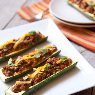 Grilled Zucchini Boats.