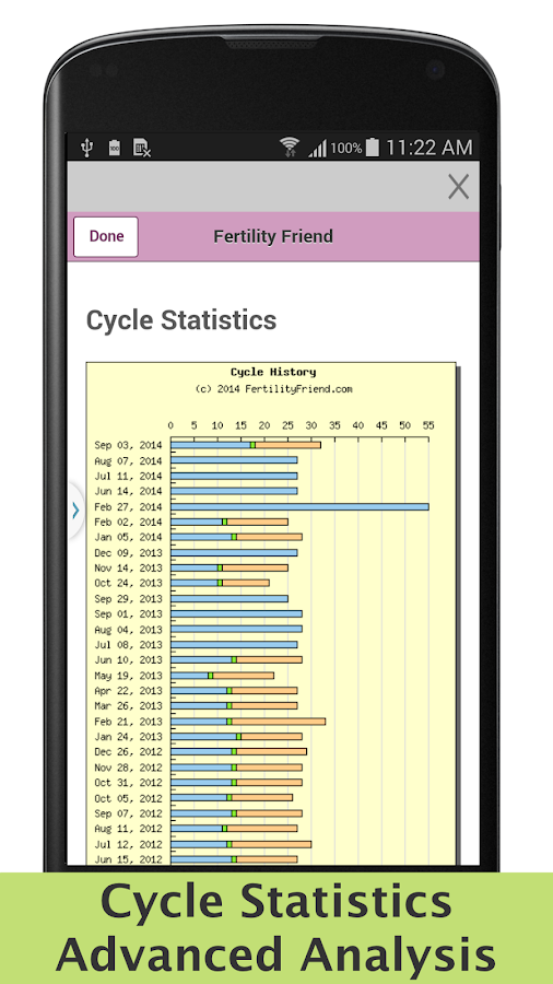 Fertility Friend Tracker - screenshot
