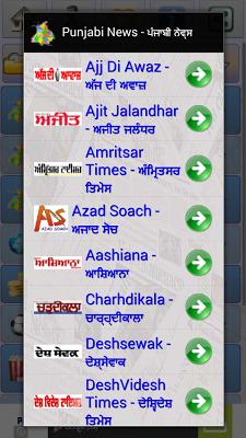 Punjabi News:Punjab Newspapers - screenshot