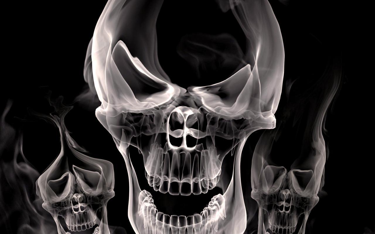 Skulls hd Live Wallpaper