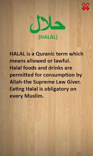 Halal Haram Food Guide