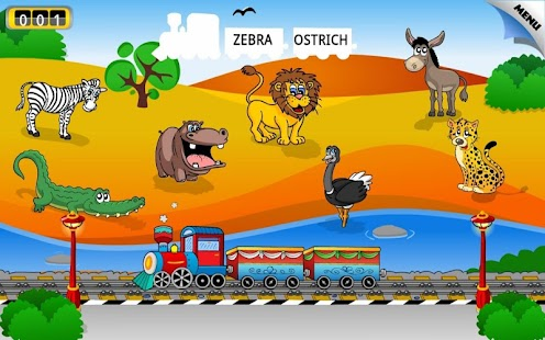 Kids Animal Train: First Words - screenshot thumbnail