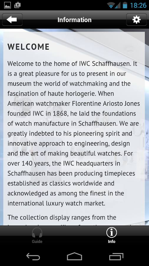 IWC Schaffhausen Watch Museum- screenshot