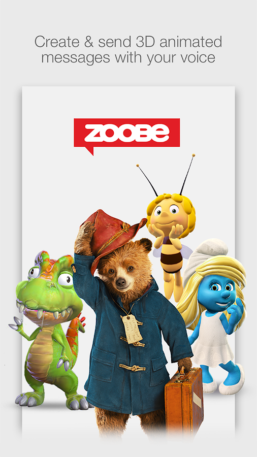 Zoobe - 3D animated messages - screenshot