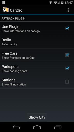 AFTrack Plugin car2go