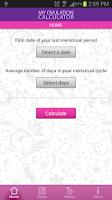 Screenshot of My Ovulation Calculator