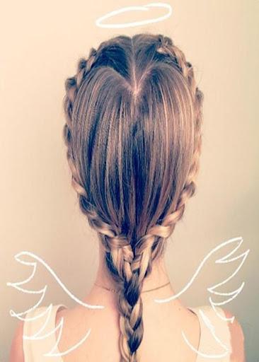 長辮子髮型