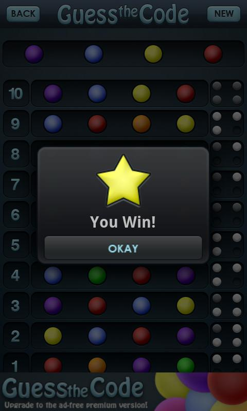 Guess the Code Free- screenshot