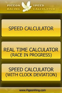 PIGEON RACING SPEED CALCULATOR - screenshot thumbnail