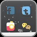 snowy day icon theme icon